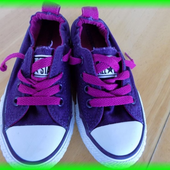 Converse Other - Converse All Star Slip on Sneakers Girls Size 11 e5b4f0202